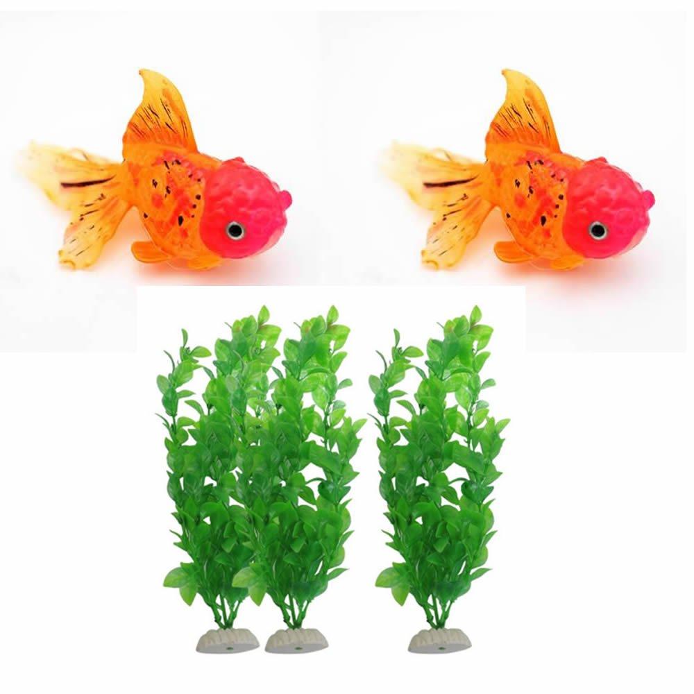 Amazon.com : GOOTRADES 5 Pcs-Set Aquarium Ornament Fish Tank Decor ...