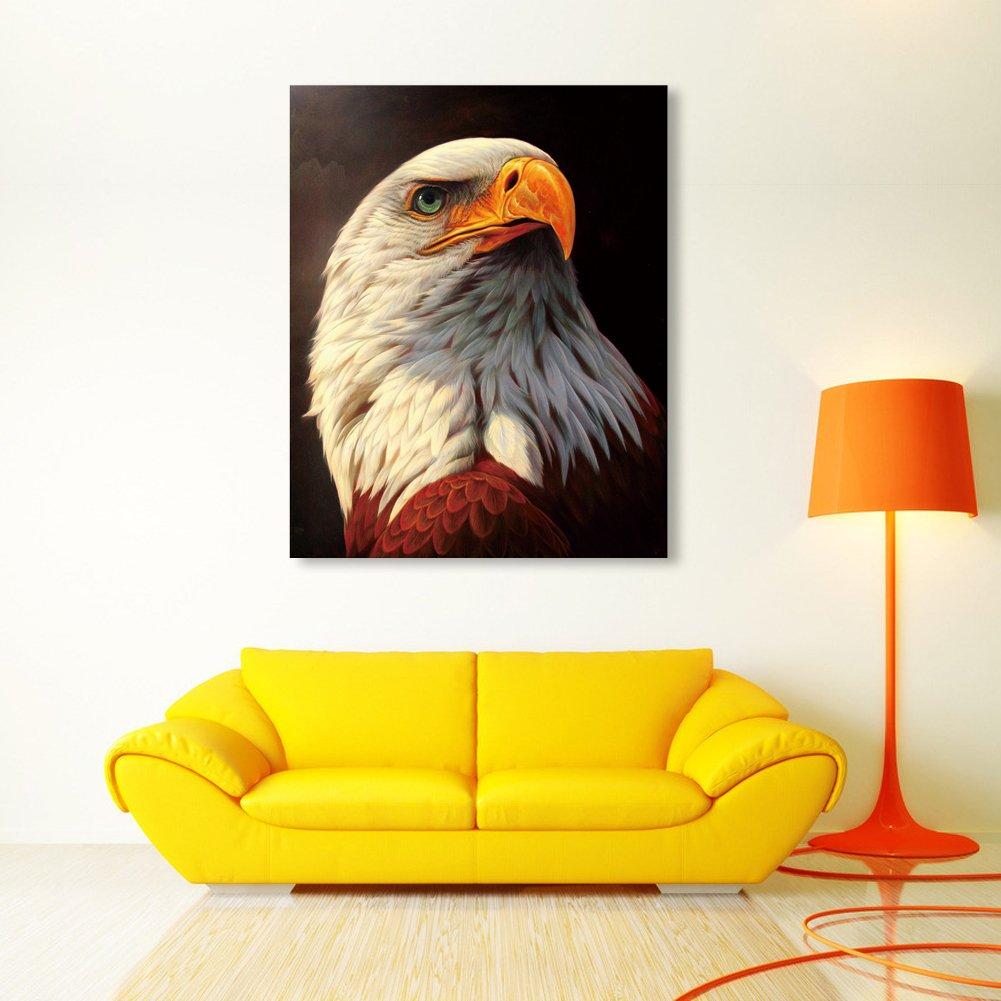 Amazon.com: Whitelotous DIY 5D White Eagle Diamond Painting Cross ...