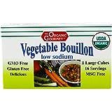 Organic Gourmet Vegetable Bouillon, Low Sodium, 8 Cubes (Pack of 12)