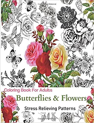 Amazon.com: Butterflies and Flowers: Coloring Books for Grownups ...