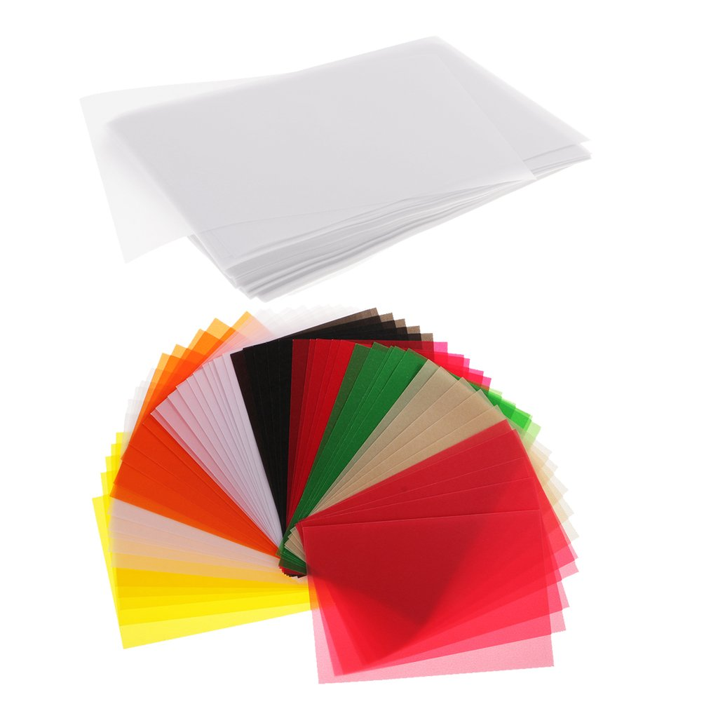 MonkeyJack 250 Piece Clear Translucent Tracing Paper Vellum Sheets for Drawing Supplies 15x10cm White Multicolor
