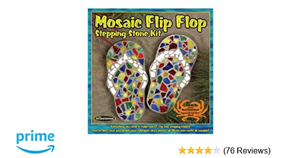 a73b856d48f3 Amazon.com  Midwest Products Mosaic Flip Flop Stepping Stone Kit  Arts