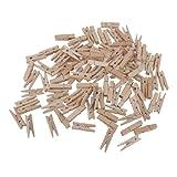 ROSENICE Pince A Linge En Bois Pour Papier Photo Craft Clips Maison Décoration 3.5 cm - 100 pièces