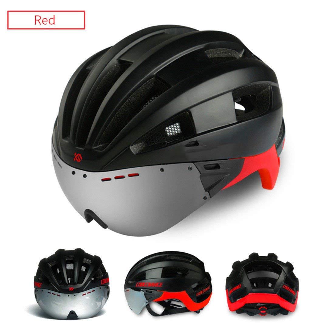 サイクリング自転車用ヘルメット サイクリングヘルメットEps防風レンズ一体成形自転車メンズ16ベントMtbバイクCasco Ciclismo スポーツ用保護ヘルメット (色 : 1902301) B07MSDJWBS 1902301