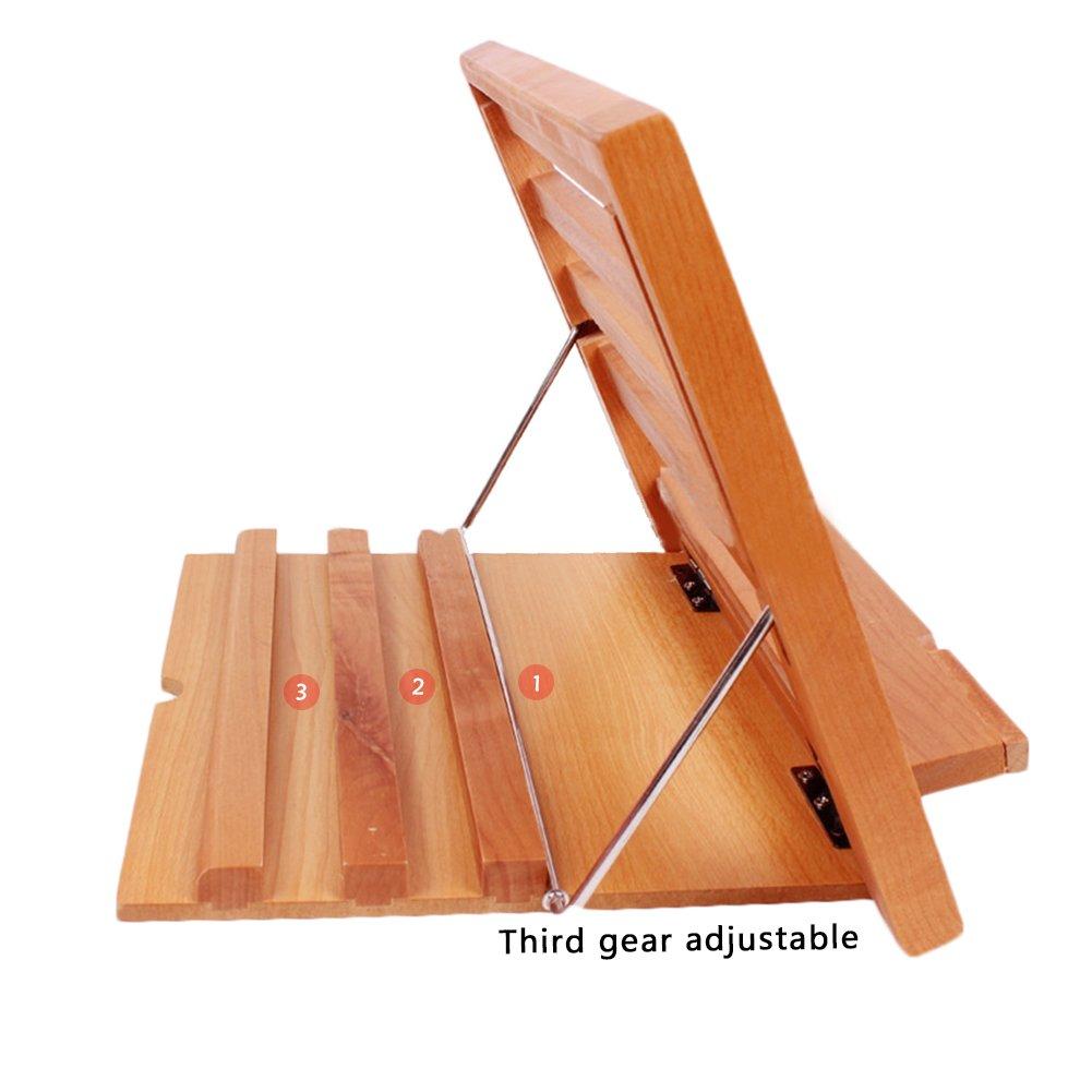 /libro de madera soporte para lectura Alegr/ía caballete de alta calidad mesa de madera libro//iPad//notebook soporte receta soporte marco de lectura para ni/ños adultos/