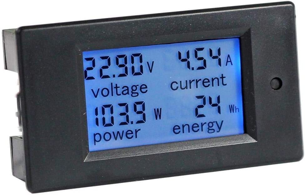 0,56 Zoll LCD Grünlicht DC 0-100V Panel Meter DC Digital Voltmeter