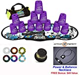 Speed Stacks Combo Set ''The Works'': 12 PURPLE 4'' Cups, REBEL MUDD Gen 3 Mat, G4 Pro Timer, Cup Keeper, Stem, Gear Bag, 6 Snap Tops + Active Energy Necklace