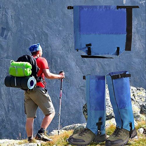 Climbing Lightweight Hiking Boots - Unigear Waterproof High Legging Gaiters for Hiking, Walking, Climbing,Hunting, Snow, Mountain Sports (Blue, XL)