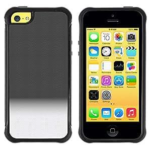 LASTONE PHONE CASE / Suave Silicona Caso Carcasa de Caucho Funda para Apple Iphone 5C / Gradient Black White Horizon Clean Pattern