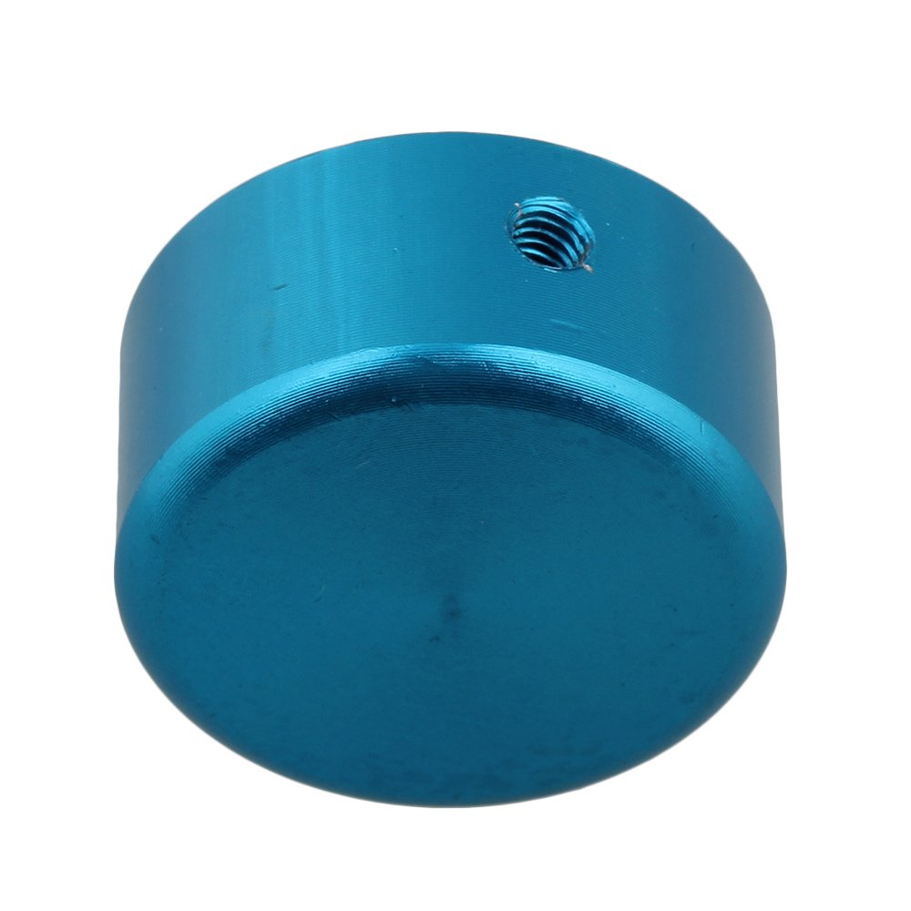 Yibuy Blue Aluminum Alloy Guitar Effects Pedal Knobs with Screws Wrench Set of 5
