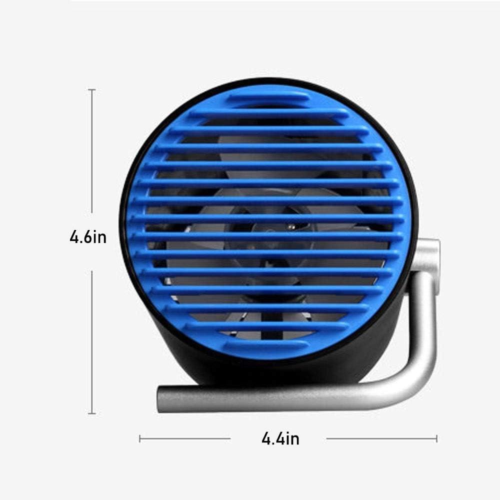 Portable Mute Mini Fan USB Desktop Desk Office Leafless Touch Fan Color : Black Blue