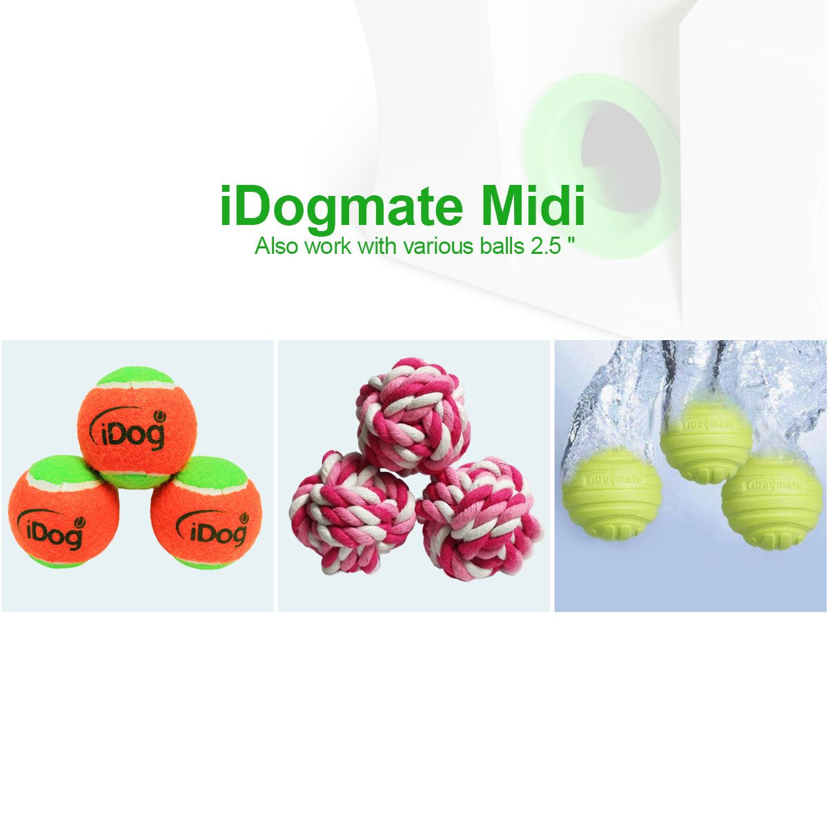 IDOGMATE Big Dog Ball Launcher, Automatic Rechargeable Tennis Ball Thrower Machine (Ball Launcher for Big Dog) by IDOGMATE (Image #5)