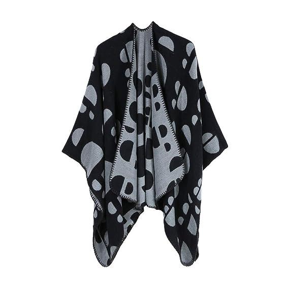 Darringls Abrigos de Invierno Mujer, Chaqueta Tejer Mantón Abrigo Moda Parka Elegantes Cuadros: Amazon.es: Ropa y accesorios