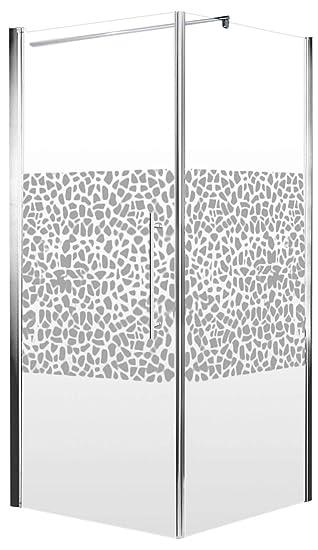 Schulte Duschkabine Glas-Dusche 90x90, 5mm Stärke Drehtür und ...
