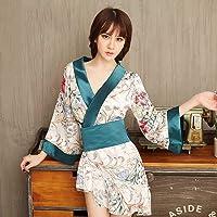 ZHANGNUO Lencería Sexy Kimono Impreso para Mujer Traje