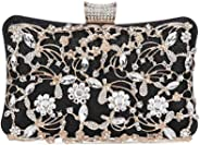 Five Flower Ladies Evening Clutch Bag Bling Sequin Handbags Bridal Purse for Party/Prom/Wedding