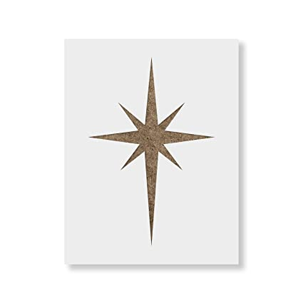 Amazon.com: Starburst Stencil Template - Reusable Stencil with ...