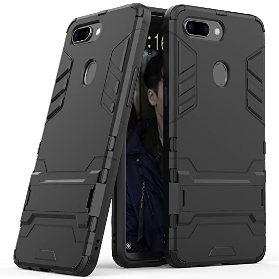 factory price abfc1 c721d Oppo R15 Case, Oppo R15 Hybrid Case, Oppo R15 Stand Case, Dual Layer  Shockproof Hybrid Rugged Case Hard Shell Cover with Kickstand for 6.28''  Oppo R15