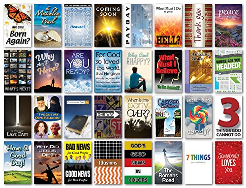 Gospel Tract Value Bundle (20 each of 32 titles, - Tract Display