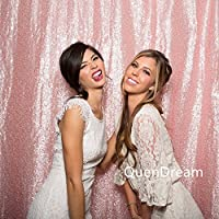 QueenDream 8ftX8ft pink Sequin Photo Backdrop photography backdrop background Wedding Photo Booth Wall Photography Background pink sequin backdrop