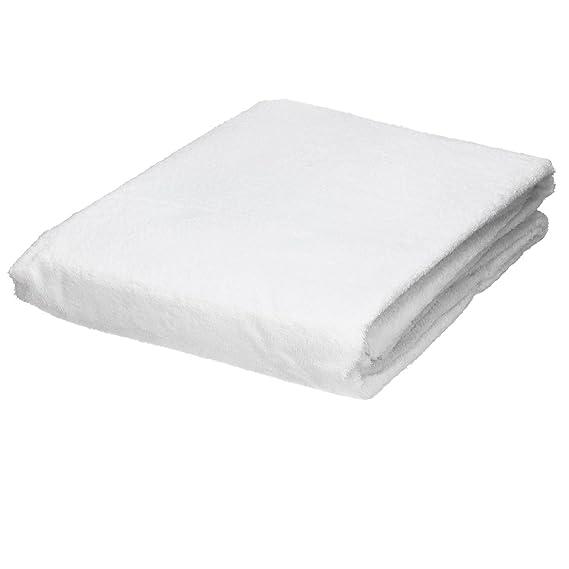ECD Germany Protector de colchón en algodón contra la incontinencia 70 x 140 x 18 cm Impermeable y Transpirable Color Blanco: Amazon.es: Hogar