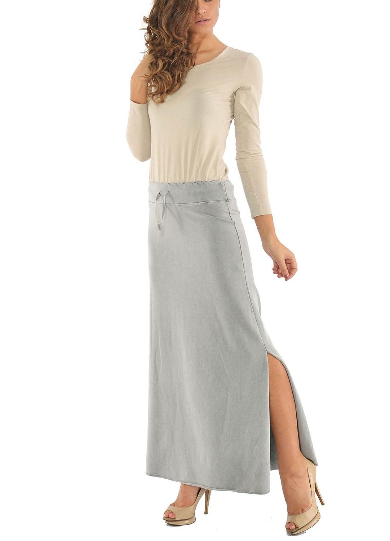 Laura Moretti - Maxi falda con abertura: Amazon.es: Ropa y accesorios
