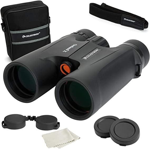 Celestron – Outland X 8x42 Binoculars  – Waterproof & Fogproof – Binoculars for Adults – Multi-Coated Optics and BaK-4 Prisms – Protective Rubber Armoring