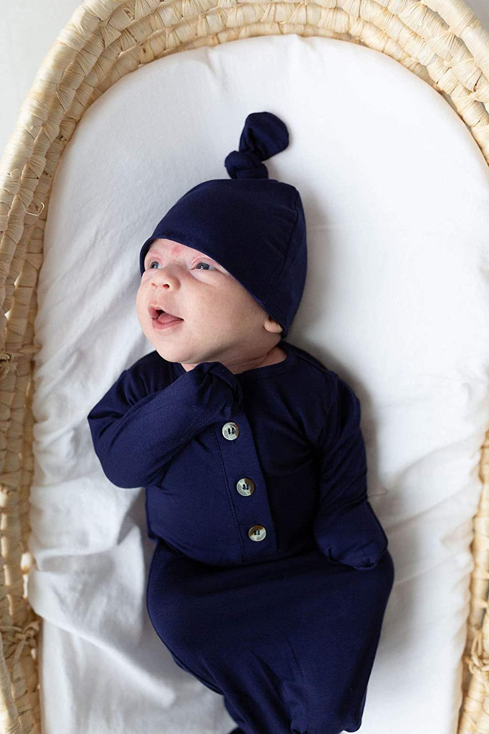 Knotted baby gown 0-3 months Coming Home Outfit