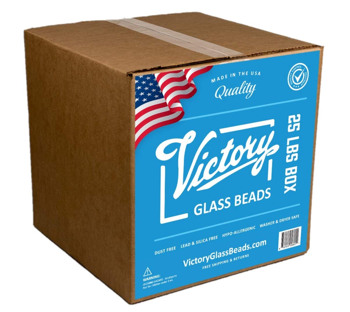 Victory Glass Beads (25 LBS) Weighted Blankets, Vests, Sensory Lap Pads, Plush Toys, Reborn Dolls, Stuffed Animals, Draft Stoppers & Crafts. Made in USA. by Victory Glass Beads