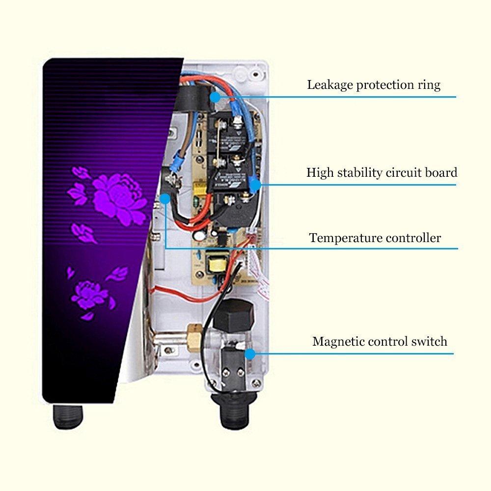 Vogvigo Calentador Eléctrico Instantáneo de Agua Eléctrica Instantánea para Ducha/Baño: Amazon.es: Hogar