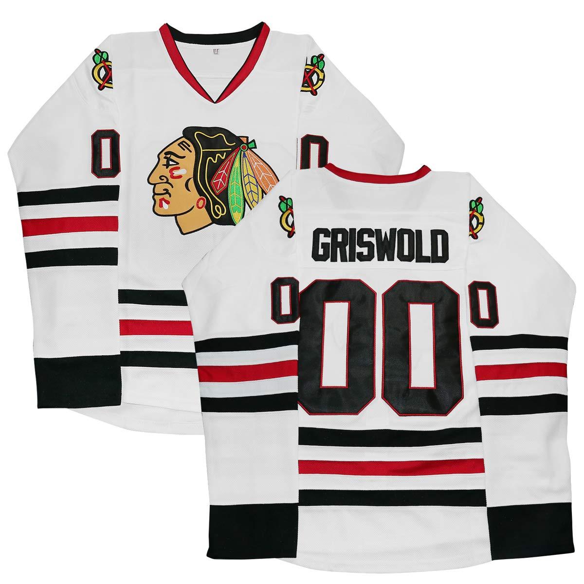 buy online 15d19 358b4 Clark Griswold Jersey,#00 X-Mas Christmas Vacation Movie Hockey Jersey  Stitched Men Ice Hockey Jerseys