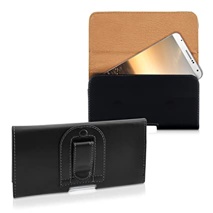 kwmobile Belt Clip Case for Smartphones - 16.2 x 7.8 cm Universal PU Leather Belt Clip Pouch Holster Cover