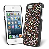 iPhone SE Case, Celicious Brown/White Mosaic Grains Hardshell Case for Apple iPhone SE / iPhone 5s