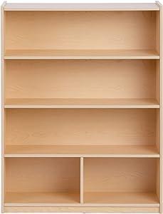 Guidecraft Standard 5 Shelf Wooden Bookcase (48
