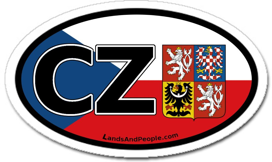 Amazon com czech republic cz flag car bumper sticker decal oval automotive