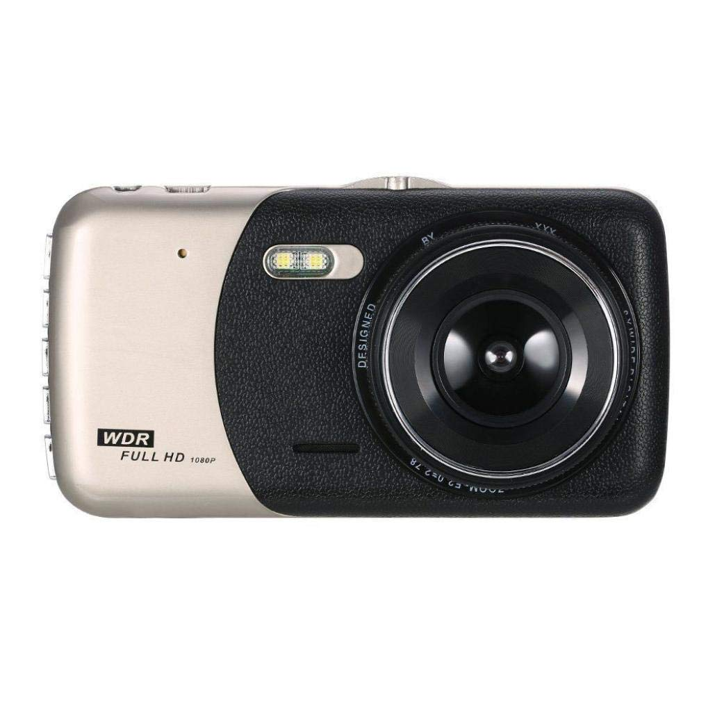 Sonmer 4'' Full HD 1080P IPS Dual Lens Car Video Camera,With Motion Detection Loop Record G-sensor Night Vision Function