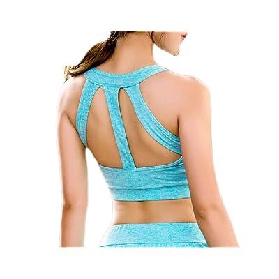 Abetteric Women's Yoga Running Control Wirefree Workout Underwire Activewear Bra