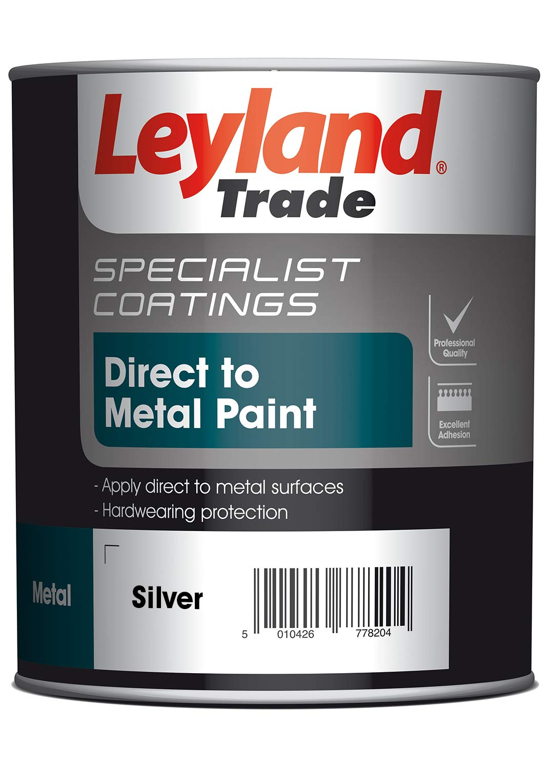 Leyland Speciality 373002 Direct to Metal Paint, Silver, 0.75 PPG