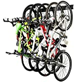 Ultrawall Bike Storage Rack,6 Bike Storage Hanger Wall Mount for Home & Garage Holds Up to 300bls