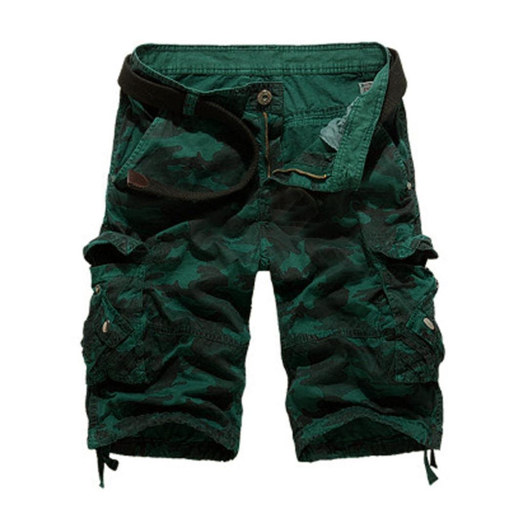 Fashion Mens,PASATO Casual PantsPocket Beach Work Casual Short Trouser Shorts (Blue,30) by PASATO