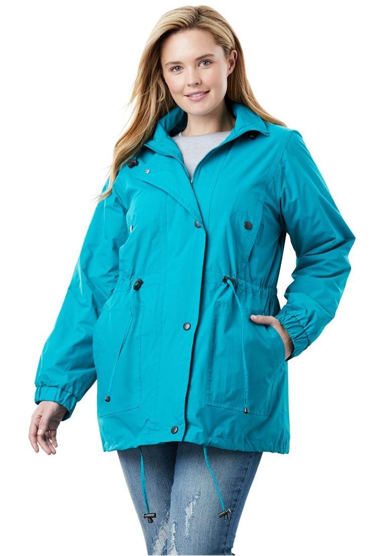 Women's Plus Size Weather-Resistant Taslon Anorak