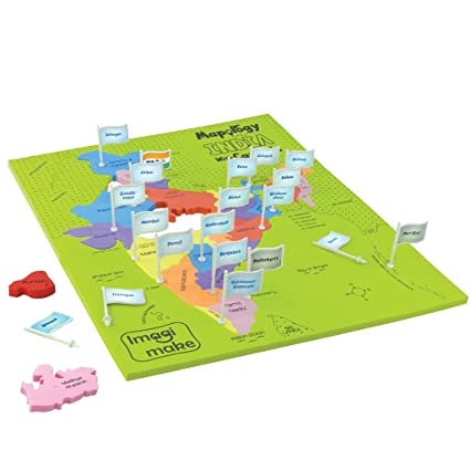 Buy Imagimake Mapology India With State Capitals - Educational Toy on