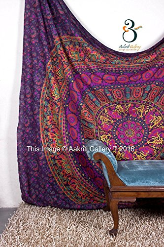 Tapestry Queen hippie Flower Beautiful Artwork wall decor Mandala Beach BedSpread Intricate Indian Bedspread Tapestries 92x82 Inches Aakriti Gallery