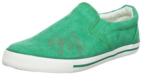 Oliver Casual - Zapatillas de casa de lona niño, color verde, talla 36: Amazon.es: Zapatos y complementos