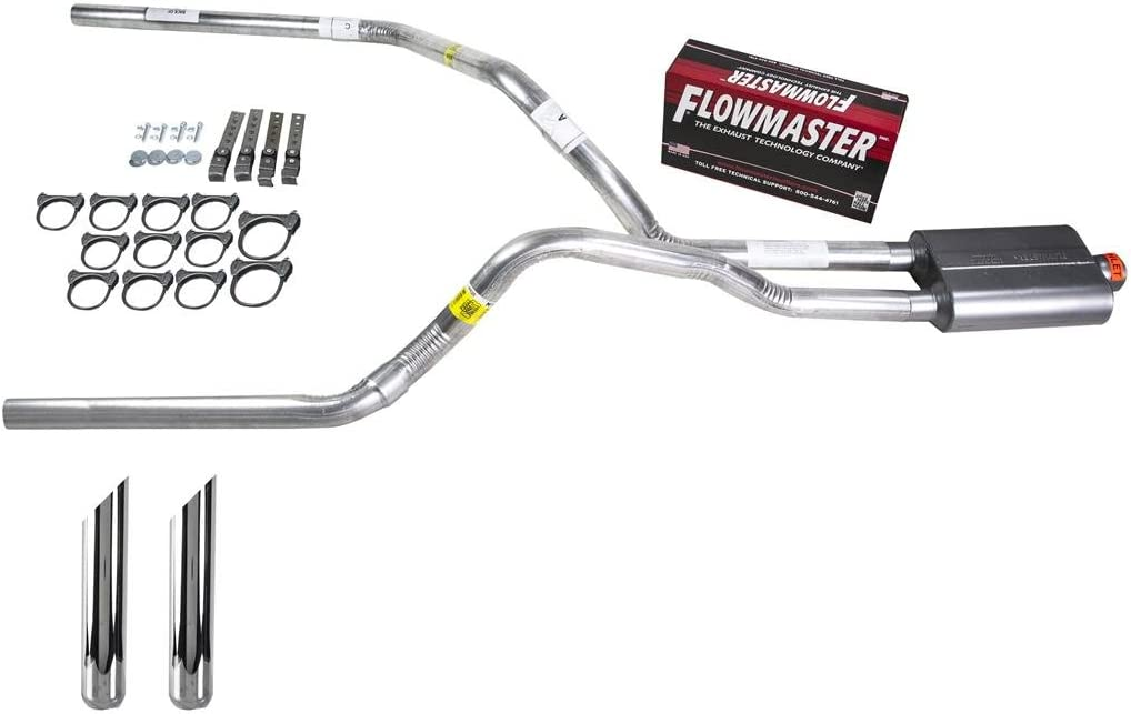 Truck Exhaust Kits DIY dual exhaust system 2.25 pipe Flowmaster 40 SW Tip