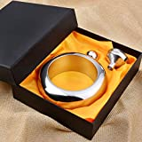 Liquor Flask for Women with Funnel - Stainless Steel Bangle Bracelet Flask Alcohol Wrist Jewelry (Sliver)