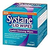 3 x Systane Lid Wipes - Eyelid Cleansing Wipes - Sterile, Count of 32
