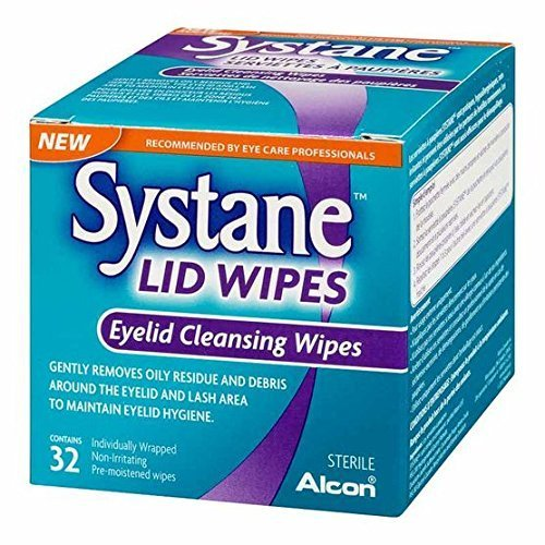 - 3 x Systane Lid Wipes - Eyelid Cleansing Wipes - Sterile, Count of 32