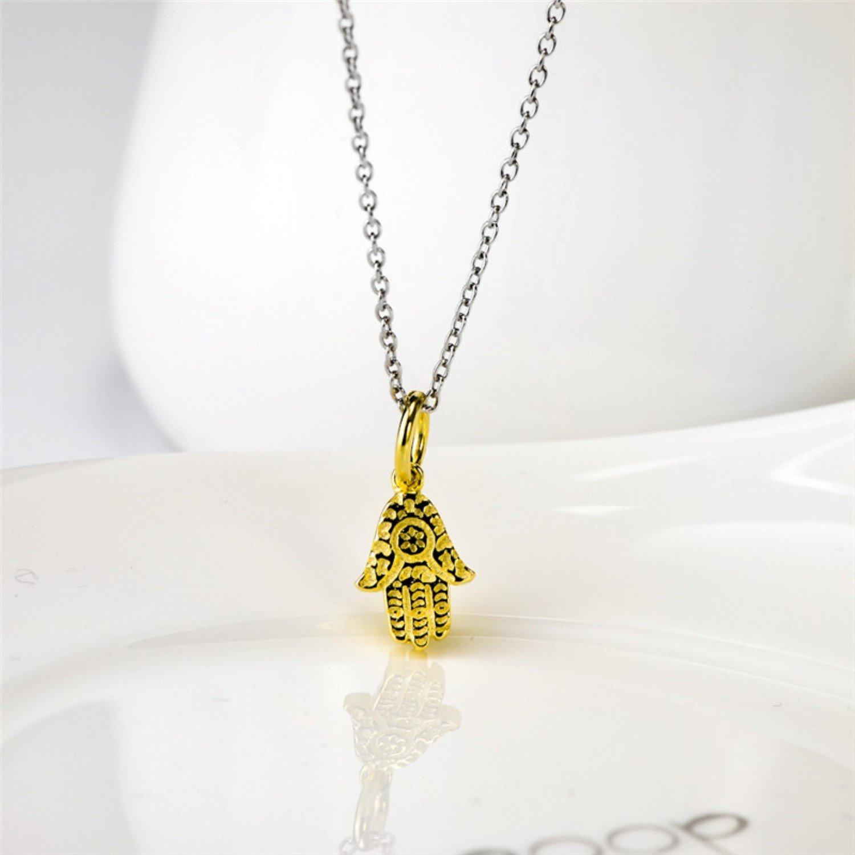 CS-DB Necklaces Hand of Fatima Gold Color Pendants Silver