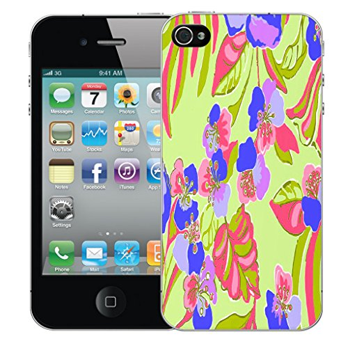 Mobile Case Mate iPhone 5s Silicone Coque couverture case cover Pare-chocs + STYLET - Exotic Floral pattern (SILICON)